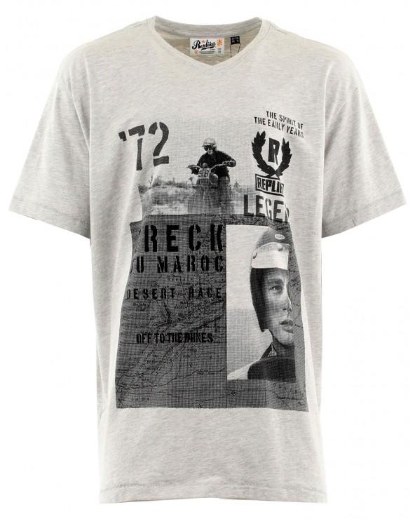 T-shirt imprimé col V