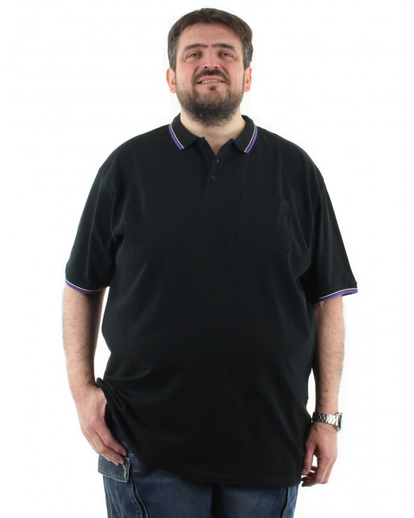Polo uni avec poche