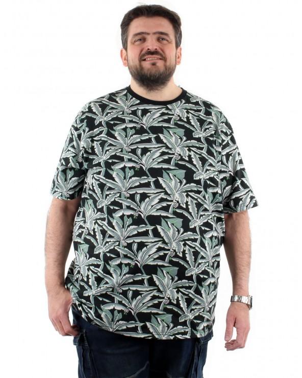 "T shirt ""Floral"" marine"