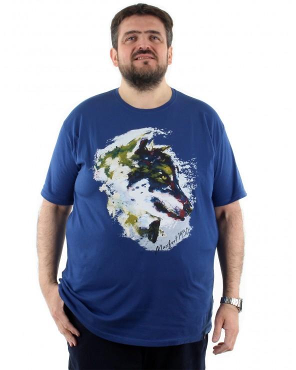 T shirt imprimé tête de loup