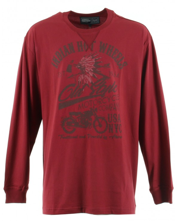 T SHIRT MANCHES LONGUES COL ROND