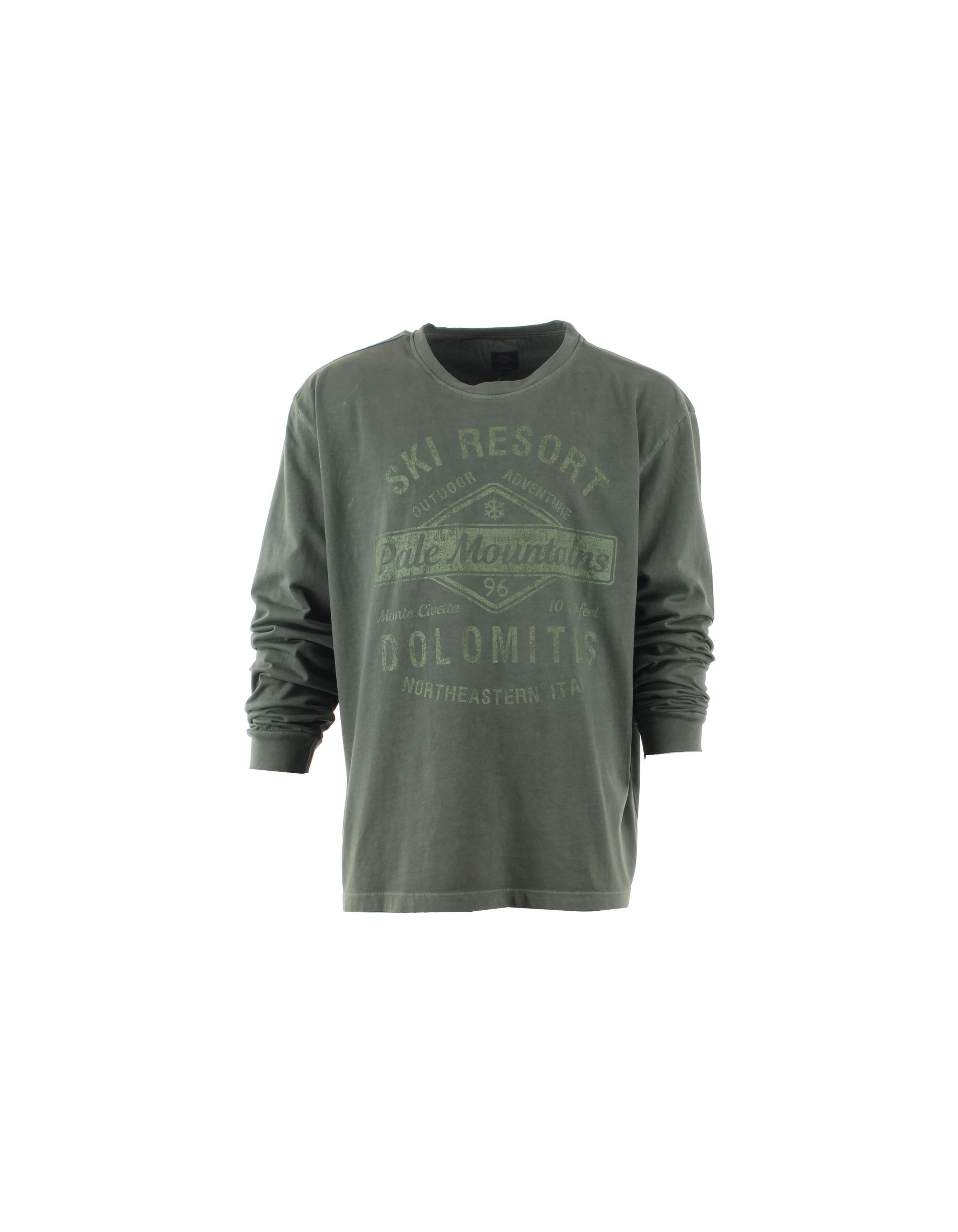 T Shirt manches longues col rond imprimé