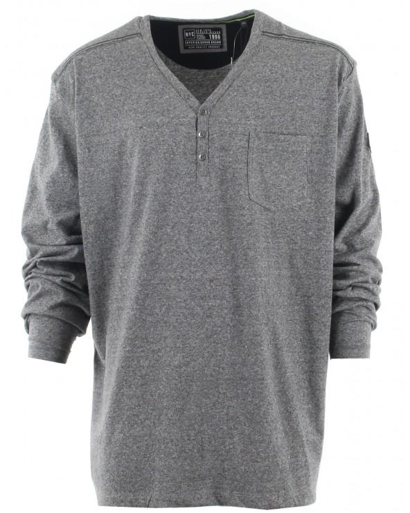 T Shirt hiver col tunisien avec poche