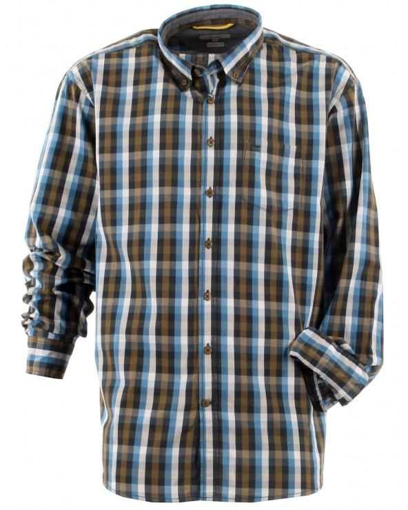 Chemise à carreaux col boutonné