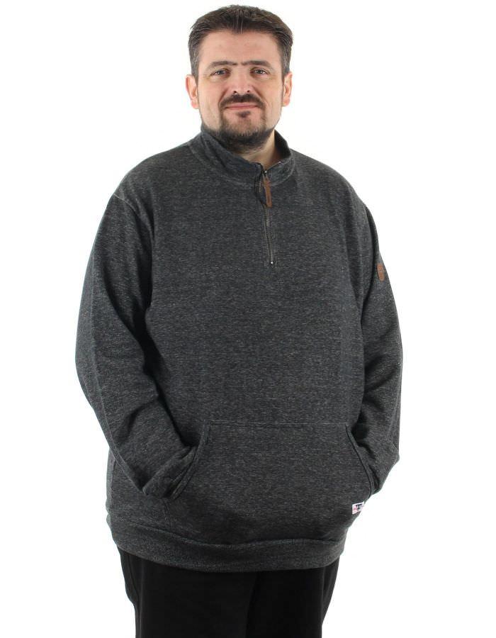 Sweatshirt col zippé