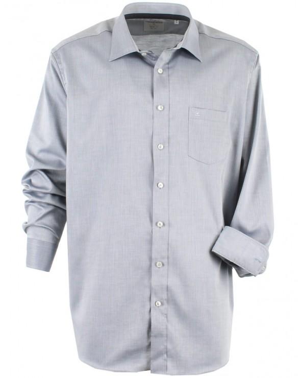 Chemise à fines rayures ton sur ton