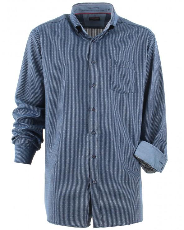 Chemise à rayures col boutonné