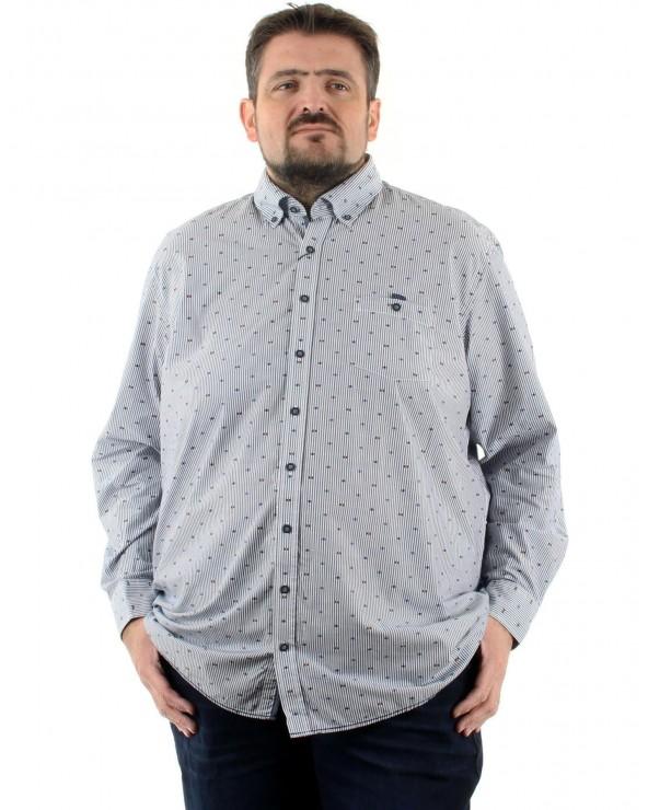 Chemise imprimée à rayures