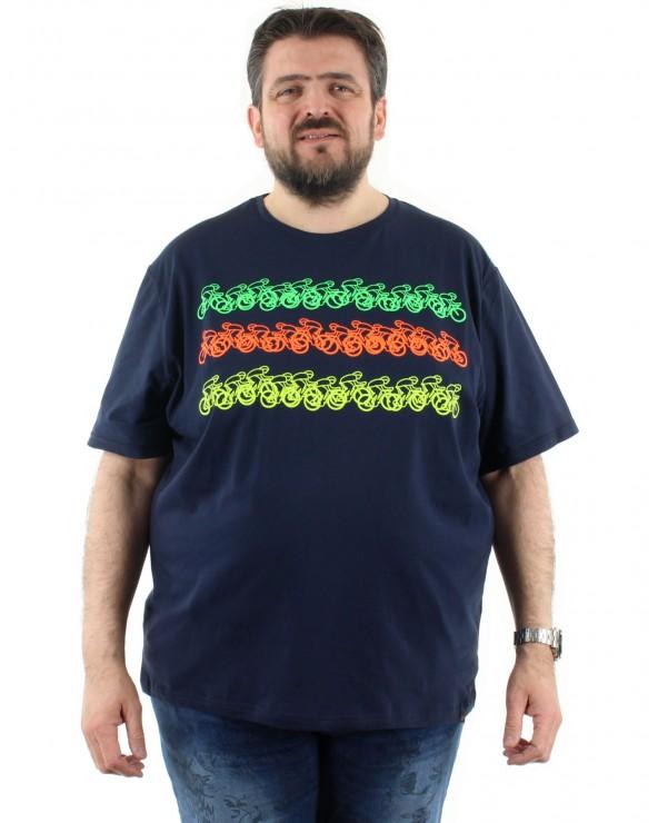 T shirt imprimé cyclistes
