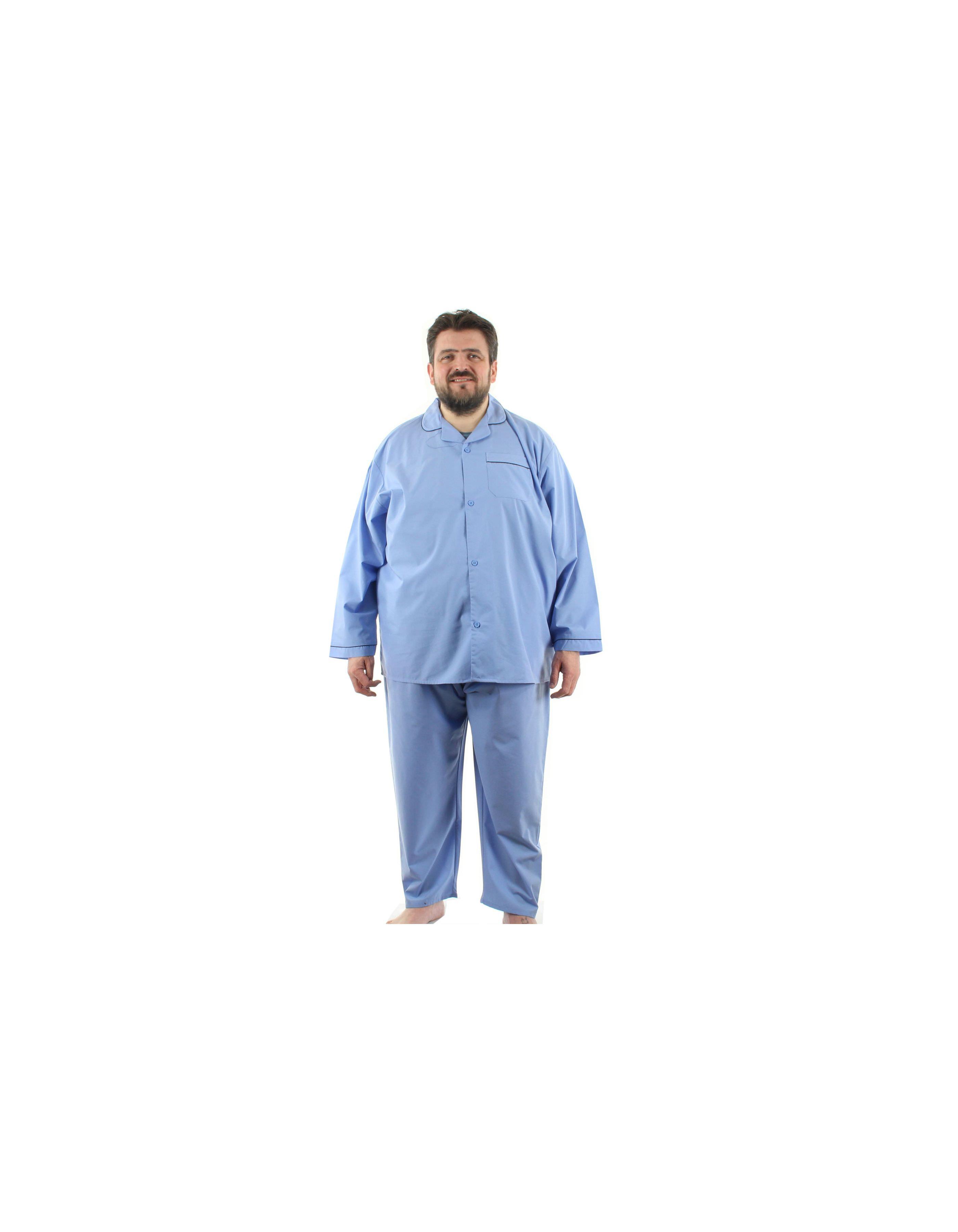 Pyjama boutonné manches longues