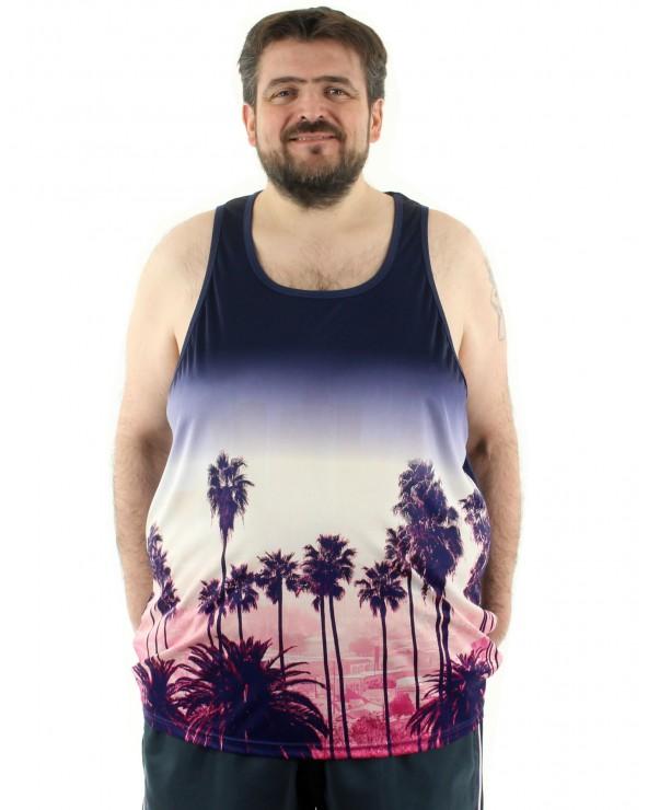T shirt sans manches Palmiers