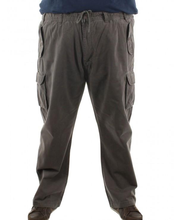 Pantalon cargo élastiqué
