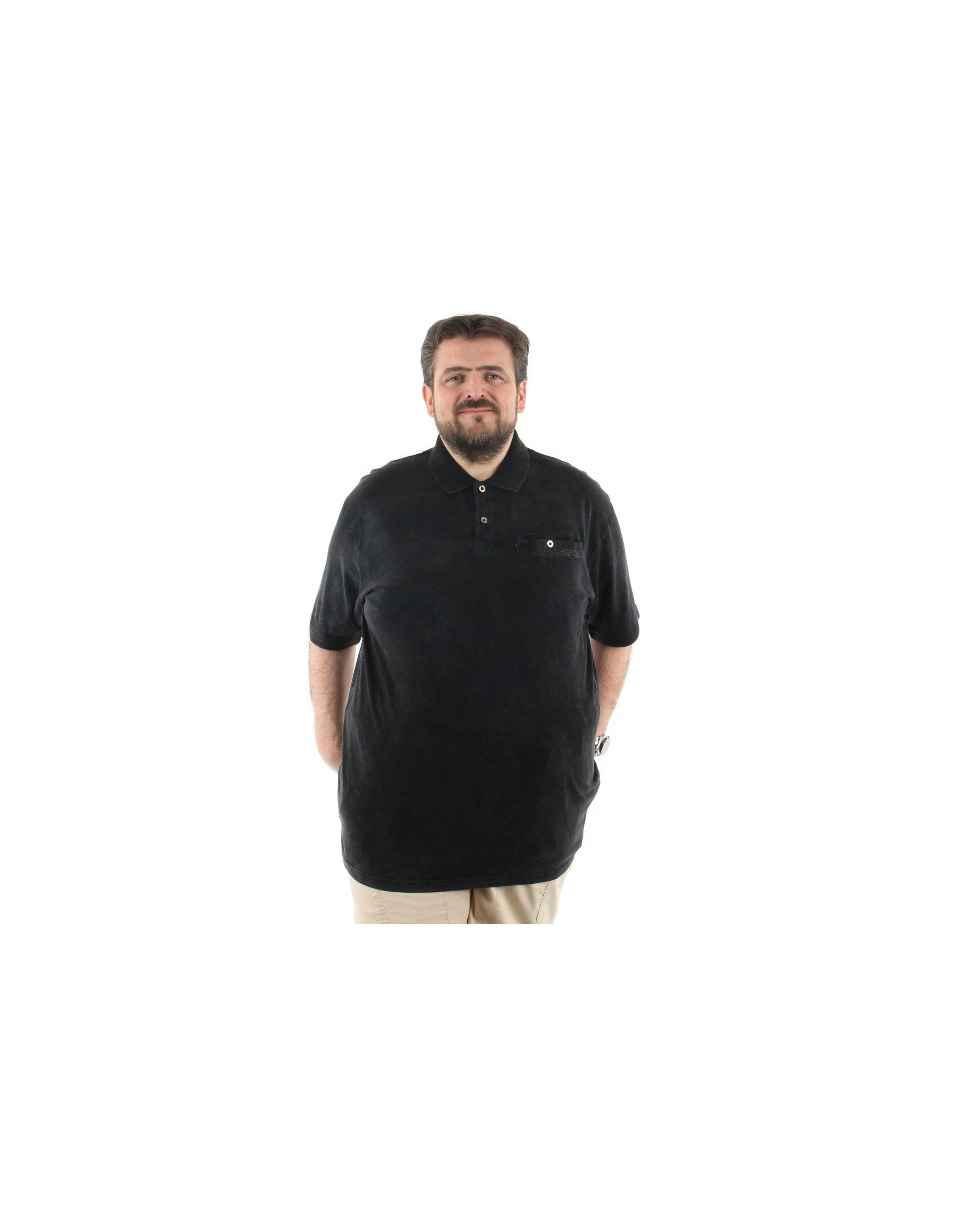 Polo uni  délavé avec poche