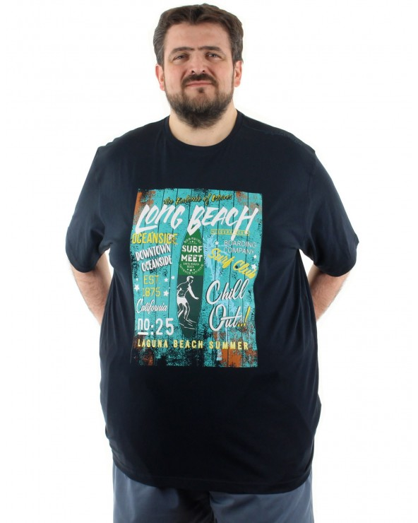 "T shirt imprimé ""Long beach"""