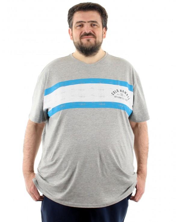 T Shirt col V imprimé