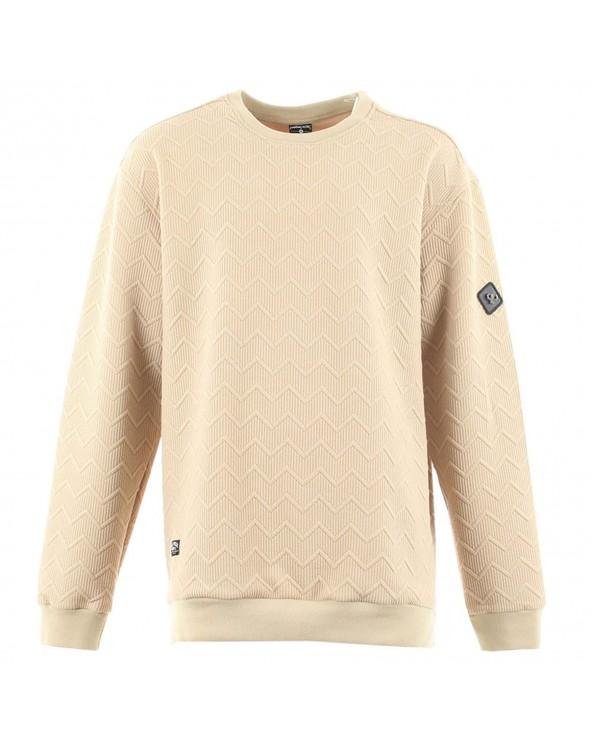 Sweatshirt texturé col rond
