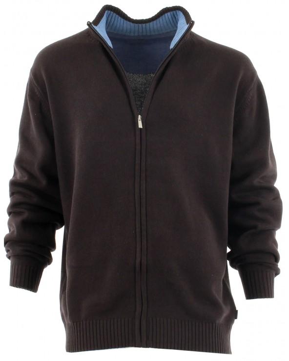 Gilet zippé coton