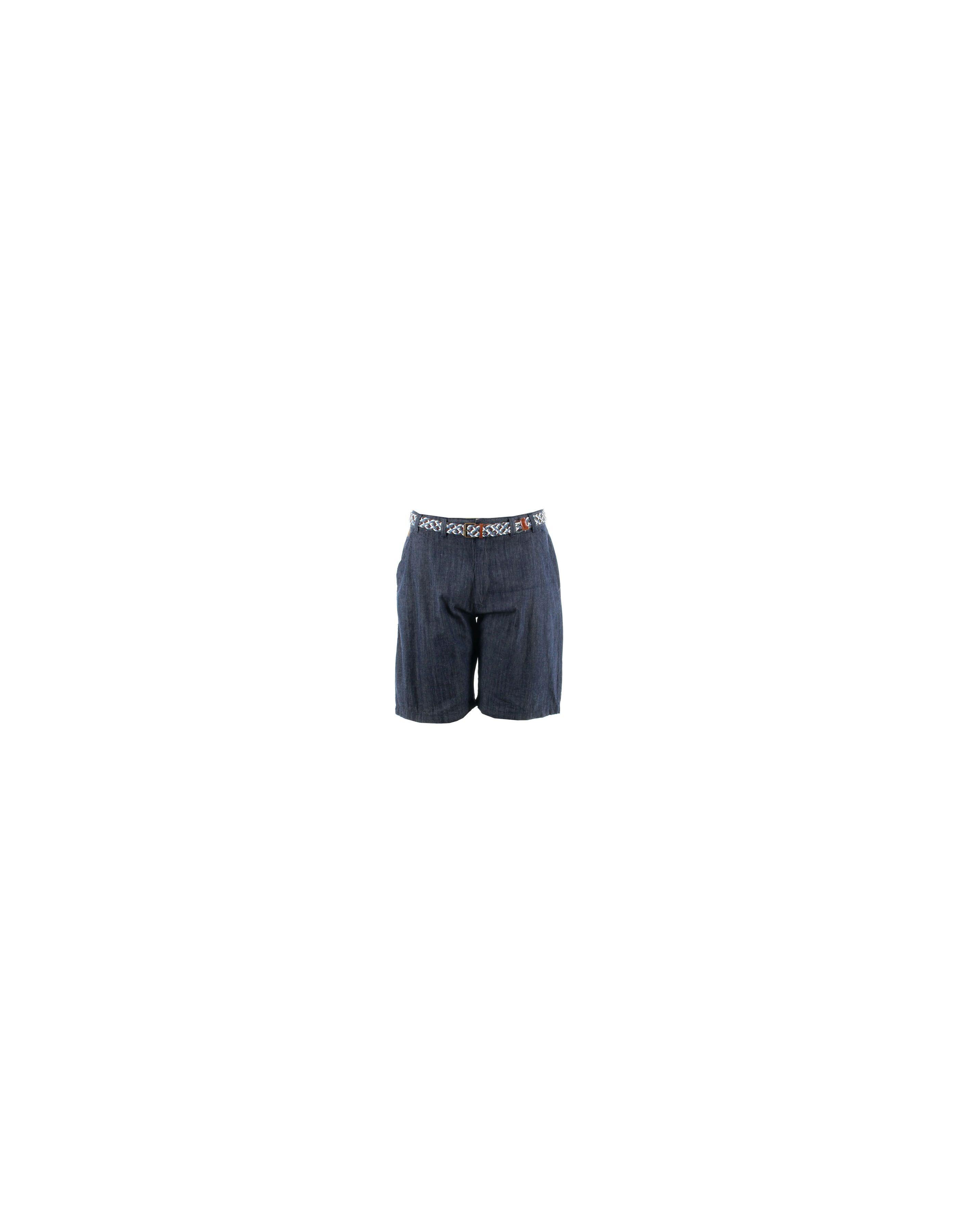 Short jean avec ceinture