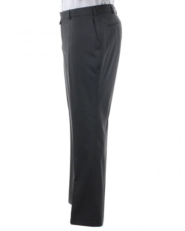 Pantalon de costume uni gris anthracite