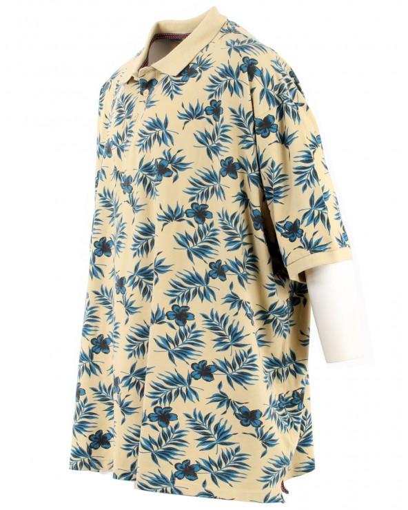 Polo avec poche motif floral