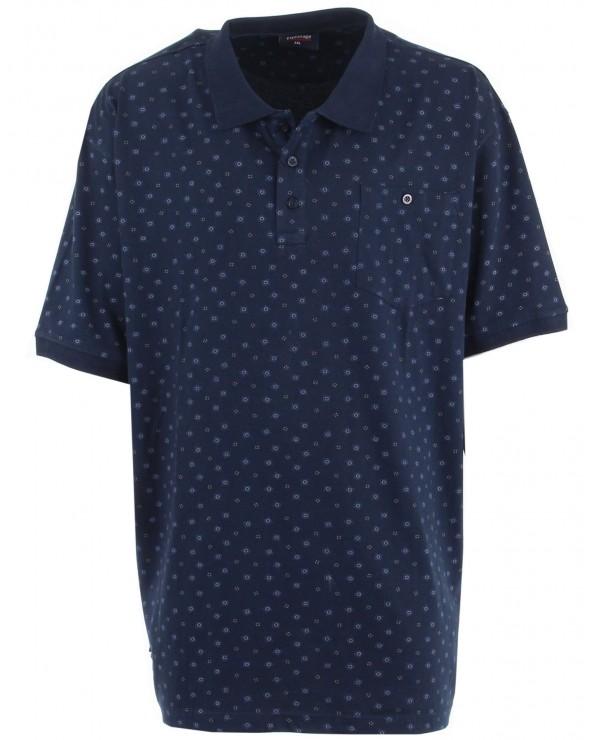 Polo jersey imprimé avec poche