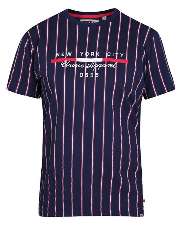 T shirt bandes verticales