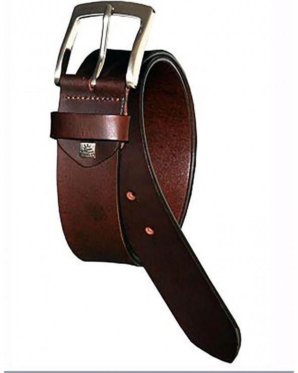 ceinture cuir boucle brossée