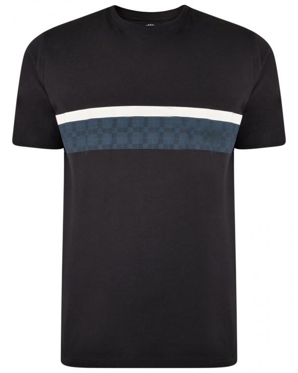 T Shirt bande contrastée
