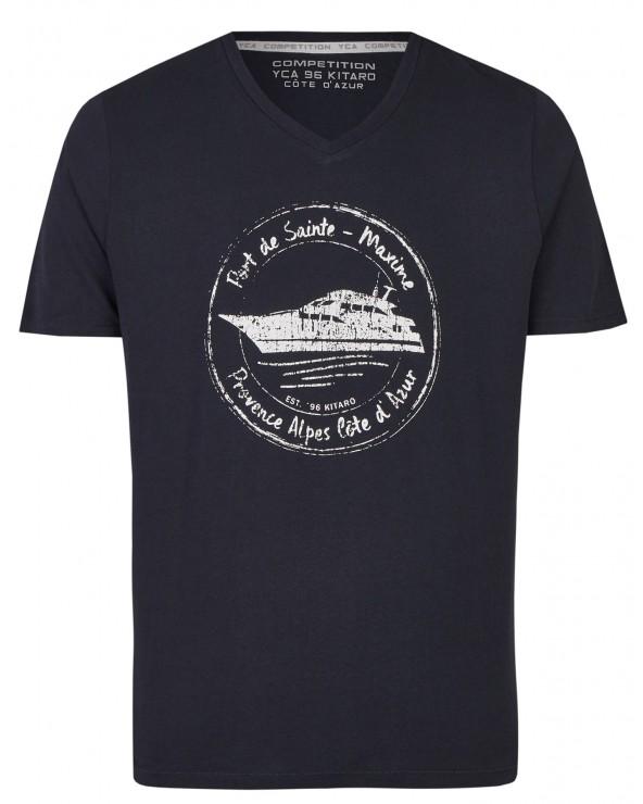 T shirt col V French Riviera