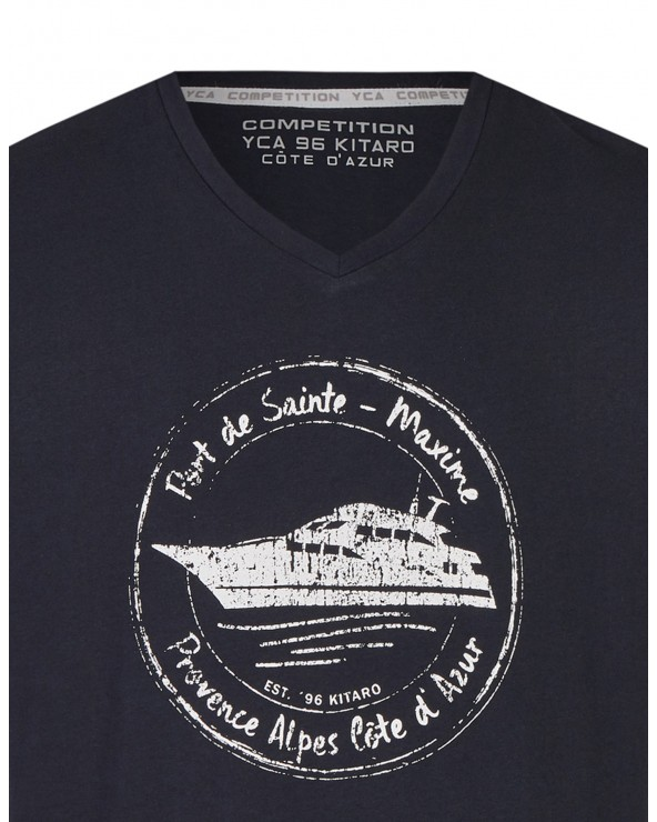 T shirt col V French Riviera