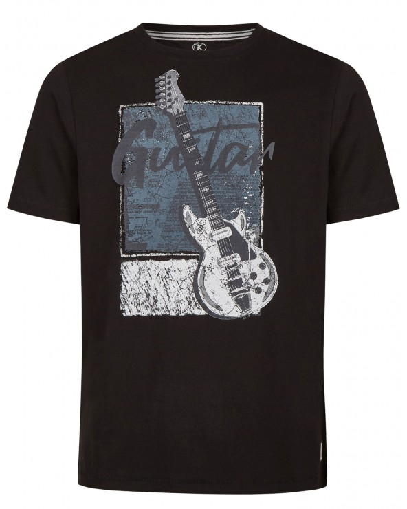 T shirt col rond Guitar