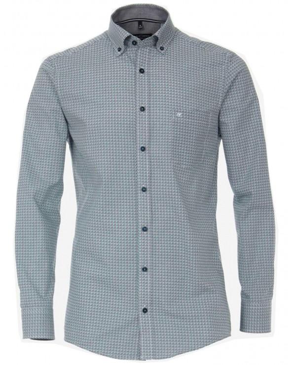 Chemise bleue chinée