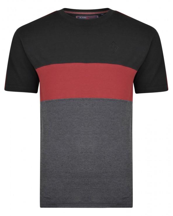 T Shirt piqué à bande