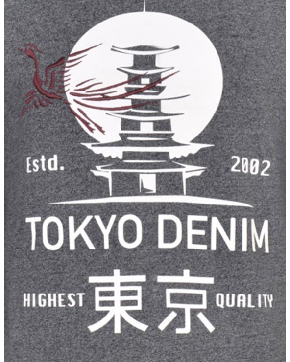 """T Shirt manches longues """"Tokyo"""" chiné"""