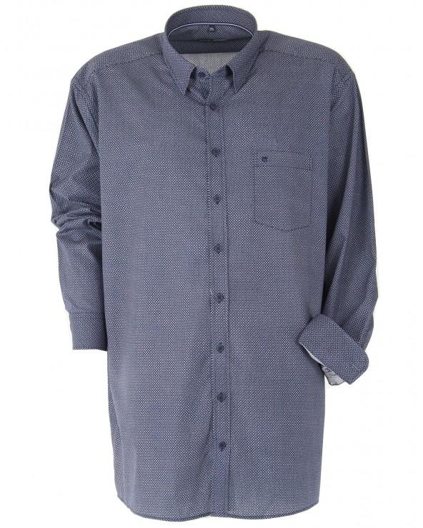 Chemise à motifs marine
