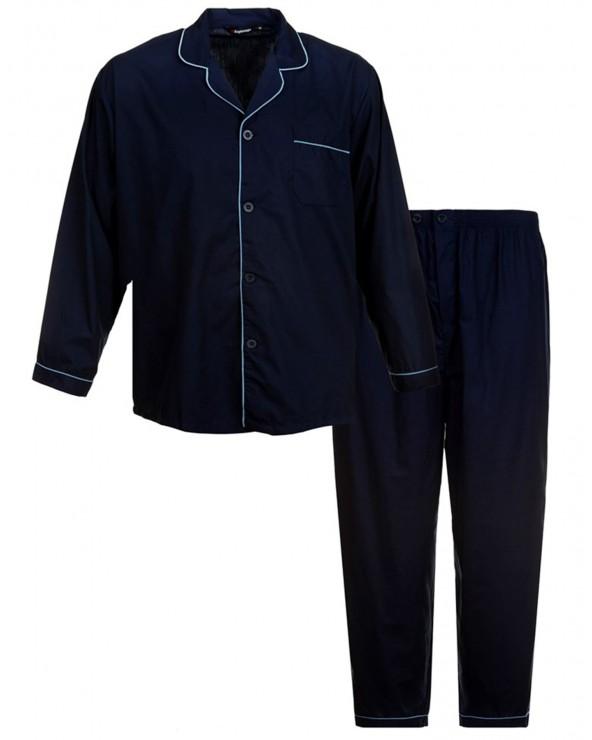 Pyjama boutonné polycoton uni