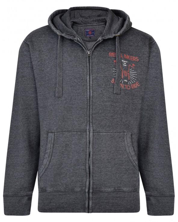 """Sweatshirt avec capuche """"Rebel Biker"""""""