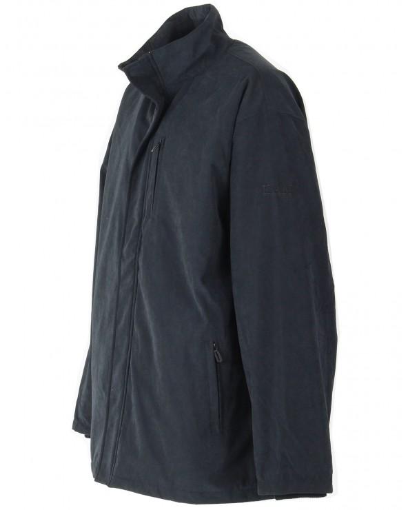 Veste suédée avec poches zippées