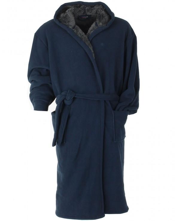 Robe de chambre à capuche polaire