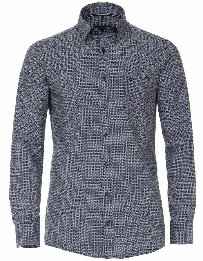 Chemise col boutonné lila