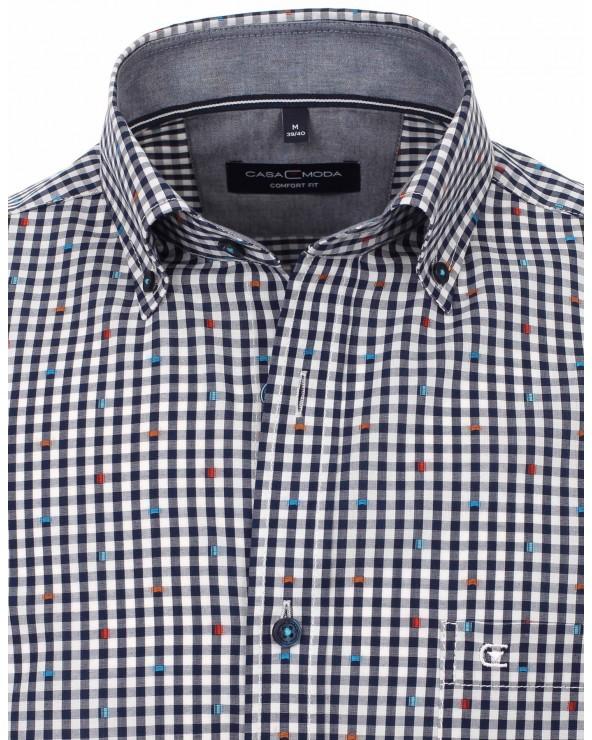 Chemise petits carreaux avec motif
