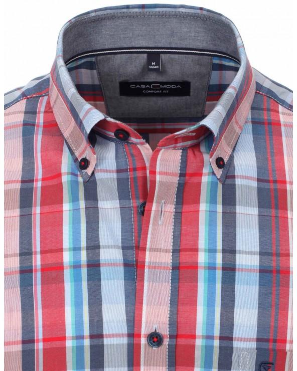 Chemise à gros carreaux ton rouge