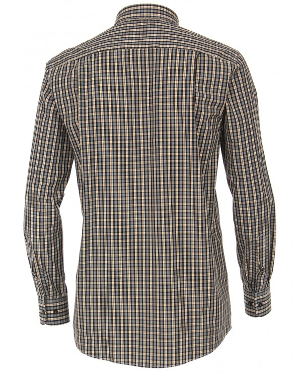 Chemise carreaux-rayures