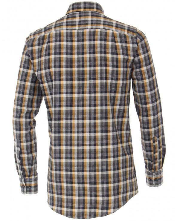 Chemise à gros carreaux façon flanelle