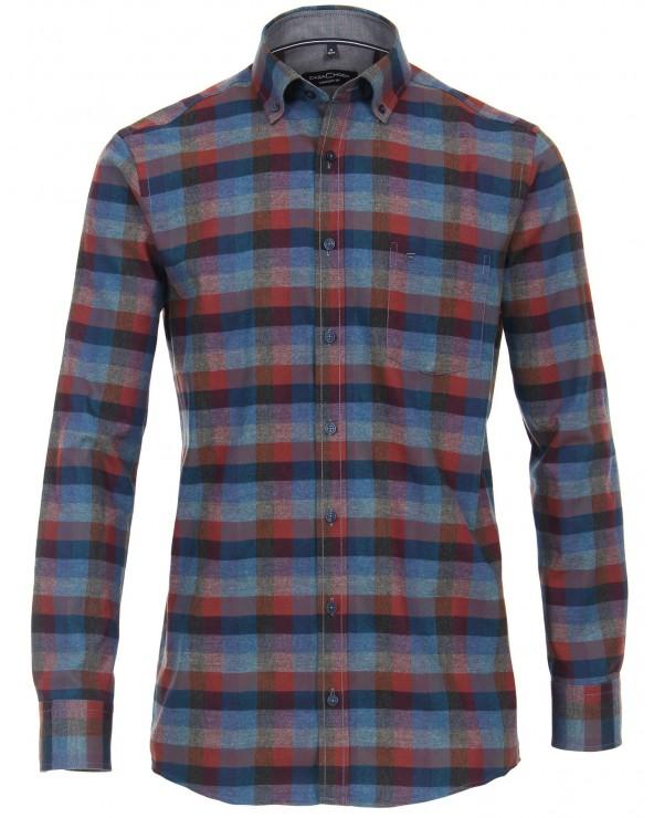 Chemise coton épais façon flanelle à carreaux