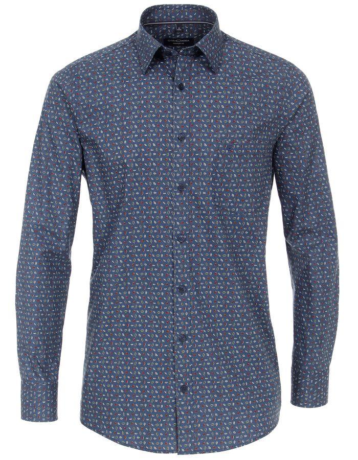 Chemise à motifs bleue
