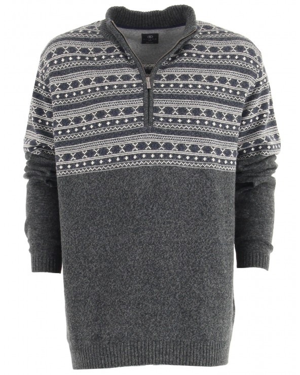 Pull jacquard col camionneur