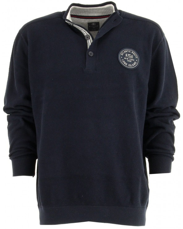Pull col montant boutonné