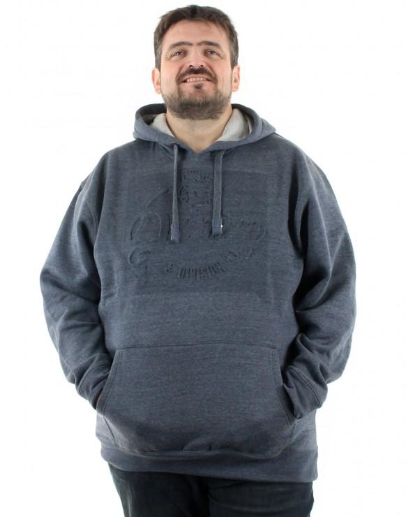 Sweatshirt avec impression gaufrée