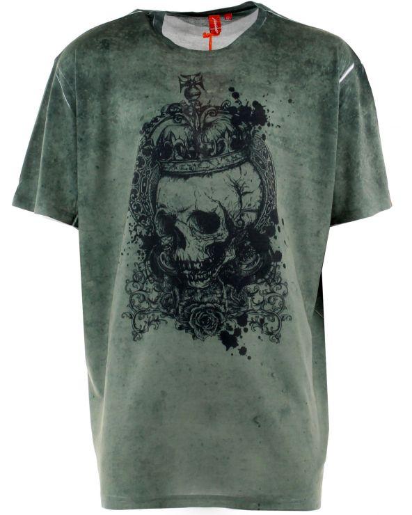T-shirt tête de mort à la couronne